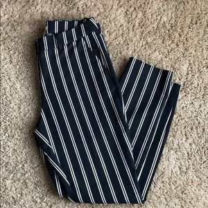H&M navy blue pinstripe business slacks